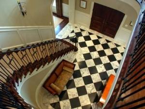 entry stair-door above